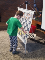 Fridays are chess club day, and they love arriving early to help set up chess sets and displays.