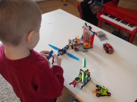 Hes just recently moved up from DUPLO to LEGO system bricks and absolutely loves them.