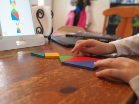 Osmo Tangrams are a favorite app/game right now.