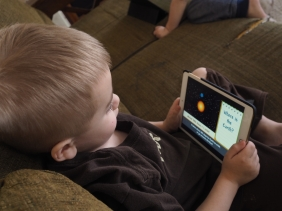 He's been enjoying BrainPop Jr a lot lately, especially videos about space and animals.