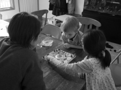 Day 36 - playing Sorry: Olaf Edition with Mommy