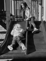 Day 47 - Sisters on a slide