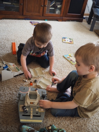 Giving old childhood toys to your kids can be a whole lot of fun of everyone involved. The kids love my old collection of Micro Machines.