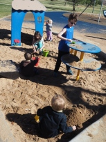 Most of the kids were having a lot of fun with sand on this particular visit.