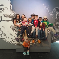 We spent the morning at the Denver Art Museum with a few cousins. Fun times, but we're going to miss them when they move!