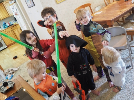 Halloween costumes can be fun for the whole year. Today they decided to dress up as Rebels and have some adventures.