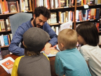 They had a blast at their first book signing, and really enjoyed meeting a real life author!