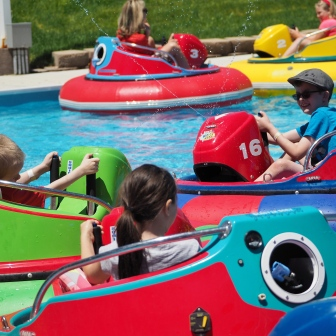 They like nearly every attraction at this place, but the bumper boats are often a particular favorite.
