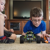 What better use for a pair of awesome LEGO Technic vehicles?