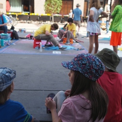 It was hot, crowded, and wonderful. The kids absolutely loved it, and are already planning to return next year, as well as to practice their own chalk art this summer.
