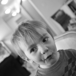 Sometimes it's the little things in life that take some extra effort to perfect. Today G spent some time working on his goofy faces.