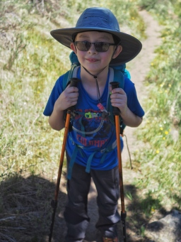 Our first attempt at a backpacking trip didn't go to well, but N had fun and is excited for our next attempt.