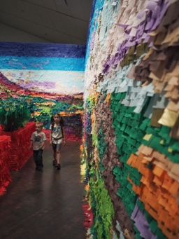 The kids really enjoyed visiting the Art Museum today, especially this particularly colorful exhibit.