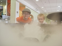 This morning we headed up to NCAR to study weather. The Cloud and Tornado exhibits are always a big hit.