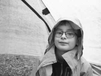 We encountered a fair bit of rain while backpackingl, but N was prepared!