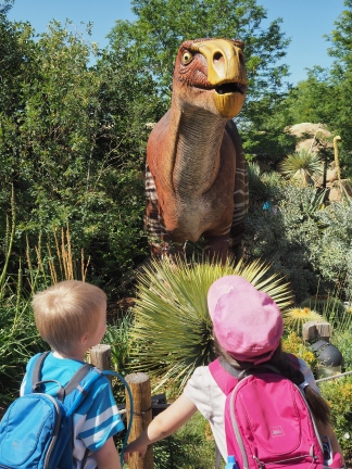 Live animals are still the true purpose of visiting the zoo, but a temporary exhibit of animatronic Dinos is a lot of fun.
