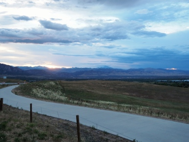 A cloudy sunset over Boulder valley.