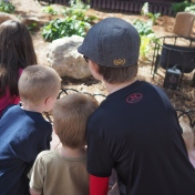 N is the most interested in bugs, but all of them were excited about a live beetle sighting.