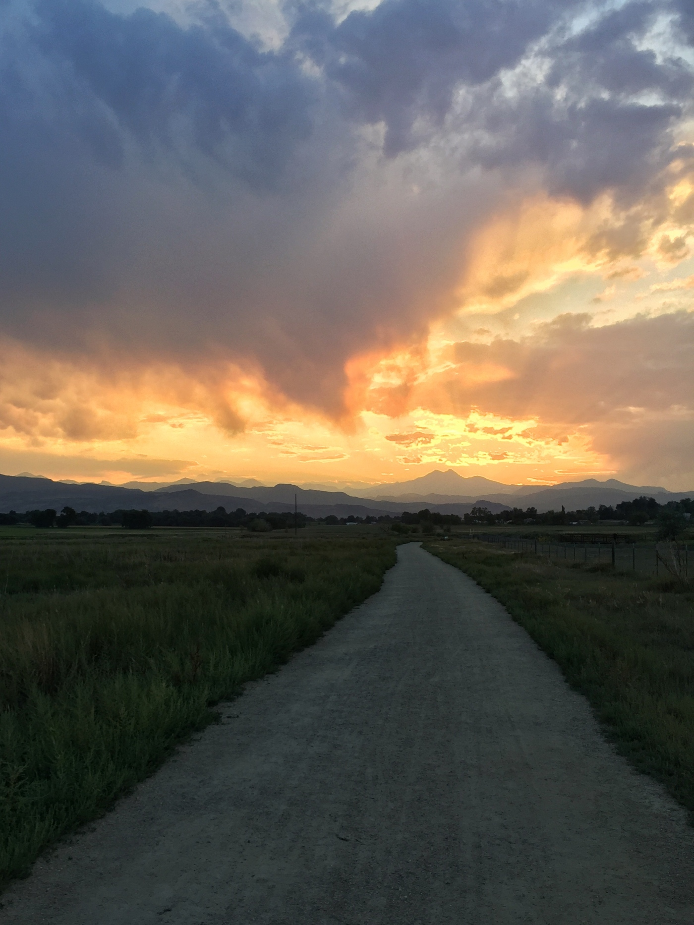 The Path At Sunset