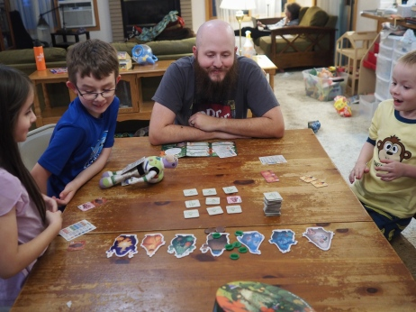 We've been trying out some new games lately, and Gigamons is turning out to be a big hit!