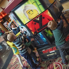We really enjoy the Ninjago tv show as a family, so today I took five of the kids to the new movie. It was quite a disappointing movie, but we still had fun together!