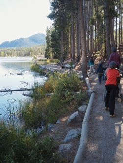 We spent in the morning up in the mountains walking around a lake. It was nice to get up high where the air was cooler.