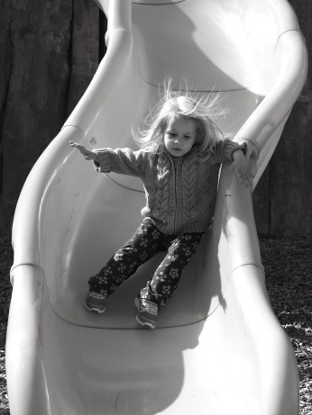 She loves slides. A lot!