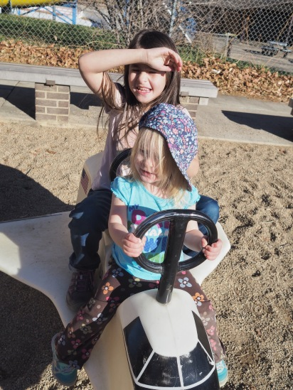 As usually, we spent some time at playgrounds. That's fairly non-negotiable when the weather allows for it.