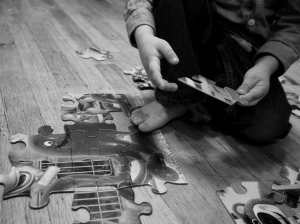 Building puzzles is an almost daily activity around here.
