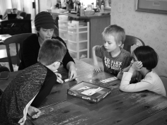 They had lots of fun playing dice games together.